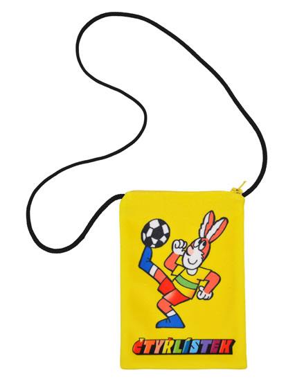 Čtyřlístek - Taštička na krk Pinďa/žlutá