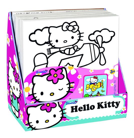 Malování na plátno Hello Kitty