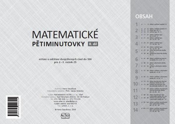 Hana Staudková Matematické pětiminutovky 2. díl