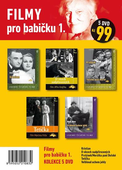 Filmy pro babičku 1. - 5 DVD pošetka