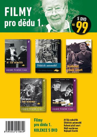 Filmy pro dědu 1. - 5 DVD pošetka