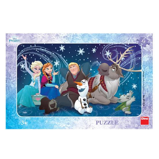 Ledové království - Sněhové vločky - puzzle 15 dílků