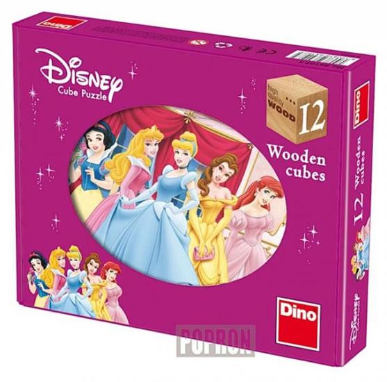 Princezny - Dřevěné kostky 12 ks