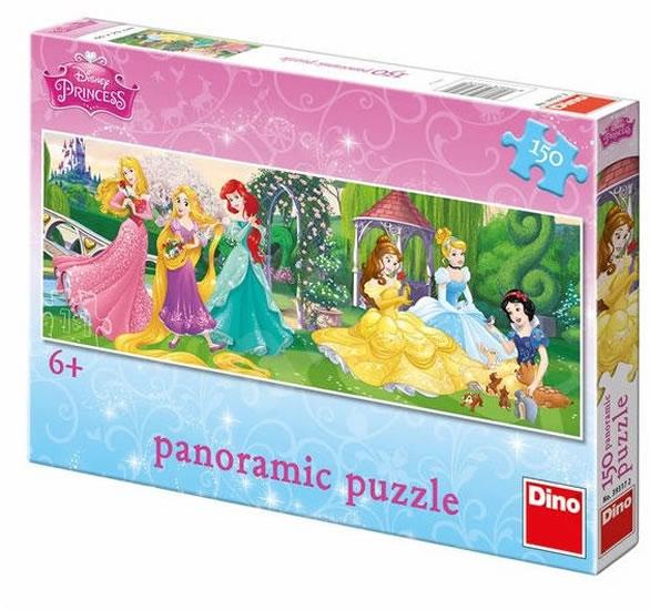 Princezny: Na promenádě - puzzle panoramic 150 dílků