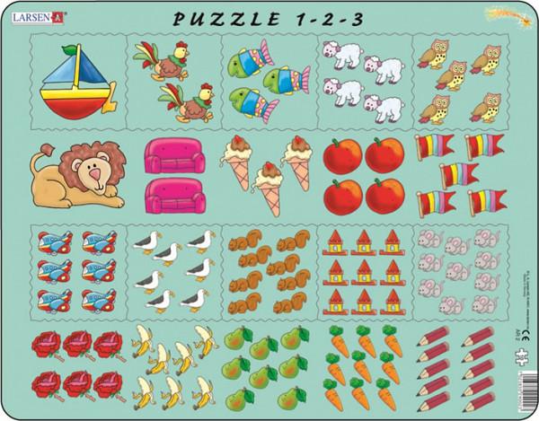 Puzzle MAXI - Počítání pro nejmenší s obrázky/10 dílků